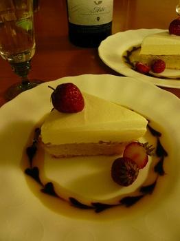 レアチーズケーキ♪