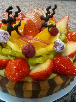 TARTE COCKTAIL AUX FRUITS FRAIS♪